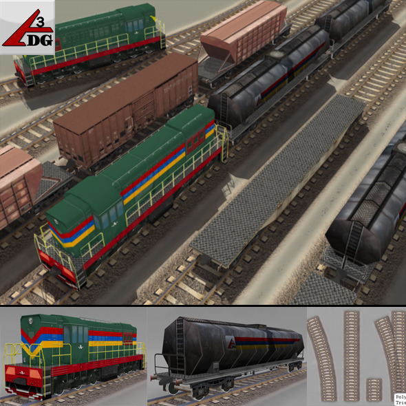 train (lowPoly)  - 3DOcean Item for Sale