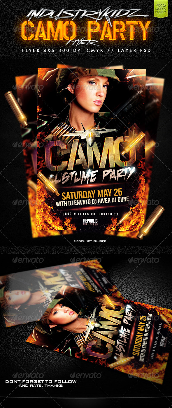 GraphicRiver Camo Party Flyer 2277283