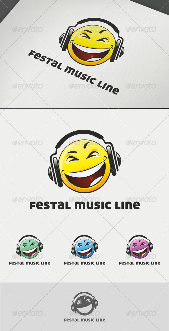 Festal Music Line Logo - Abstract Logo Templates