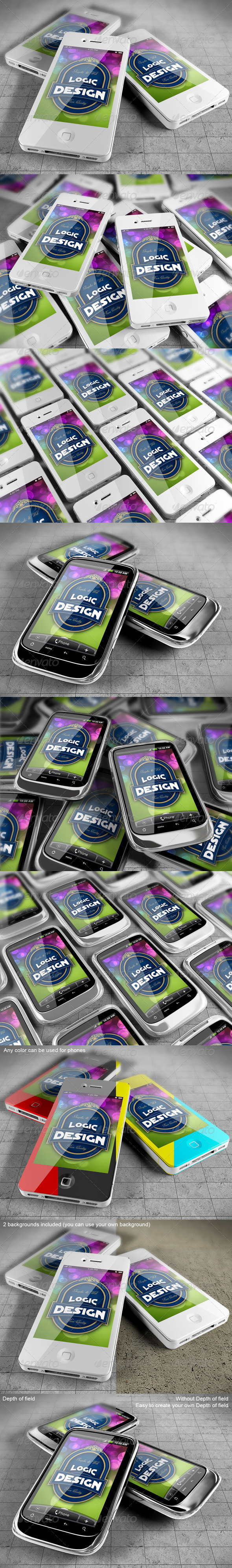 GraphicRiver Smart Phones Mock Up 2277788