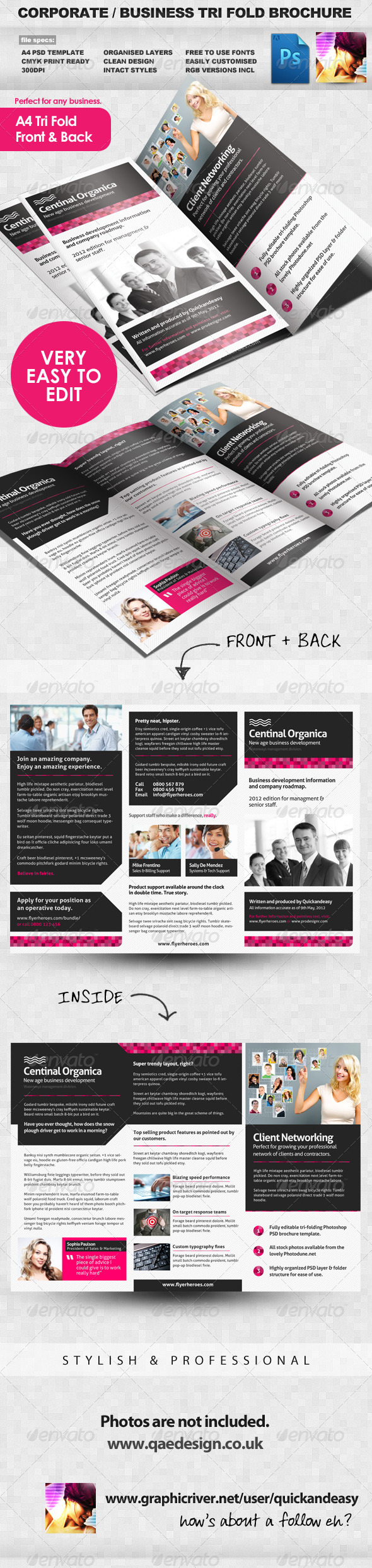Corporate / Business Tri Fold Brochure - Corporate Brochures