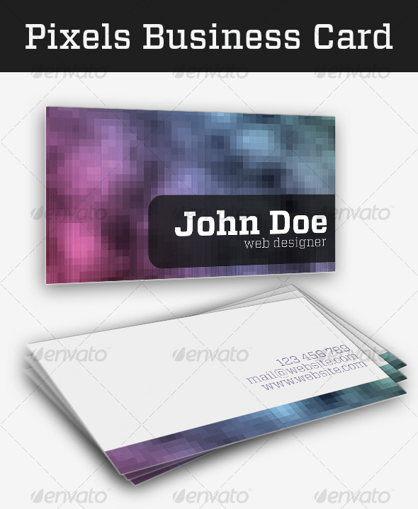 Print templates pixels business card graphicriver for Business card dimensions in pixels
