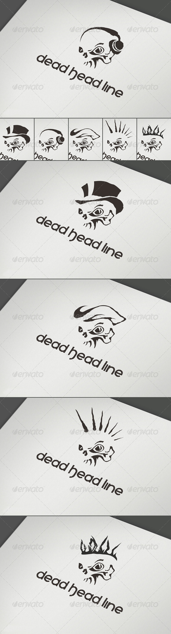 Dead Head Line Logo - Abstract Logo Templates