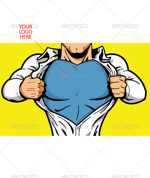 Superhero Chest for Your Logo - People Characters
