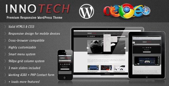 ThemeForest InnoTech Premium Responsive WordPress Theme 2279300