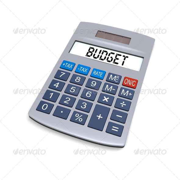 Stock Photo - PhotoDune Budget calculator 2279408