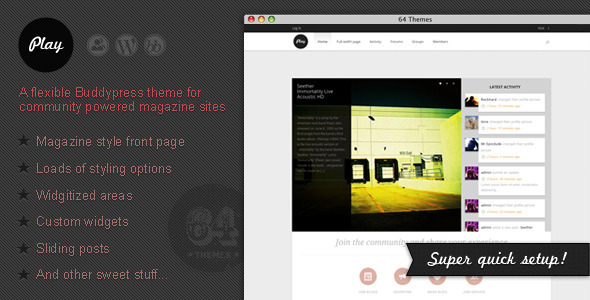 ThemeForest Play Buddypress Theme for Community Magazines 2261675