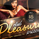 Pleasure - Sexy & Glamorous PSD A5 Flyer Template - GraphicRiver Item for Sale