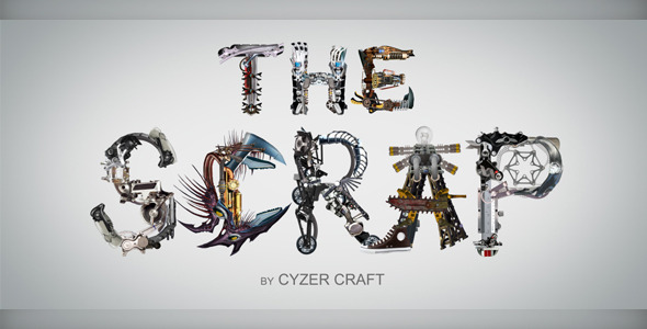 VideoHive The Scrap Transforming Alphabet 2280872