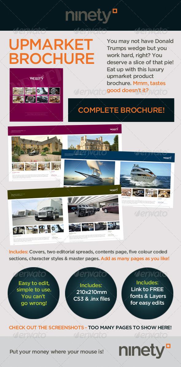Upmarket Luxury Brochure - Corporate Brochures