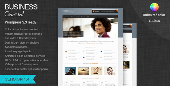 BusinessCasual - Multipurpose Wordpress theme
