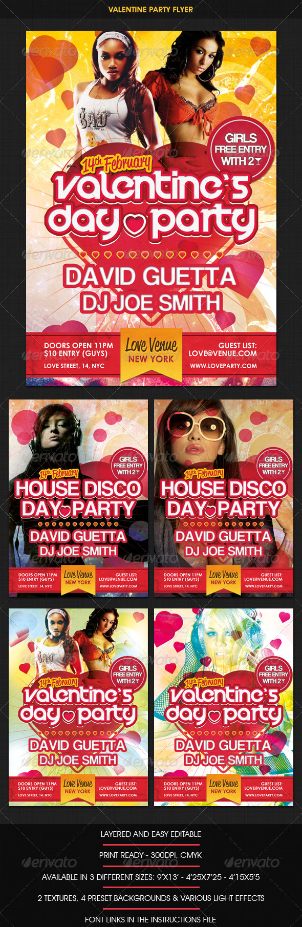 GraphicRiver Valentine Day Party Flyer 1235439