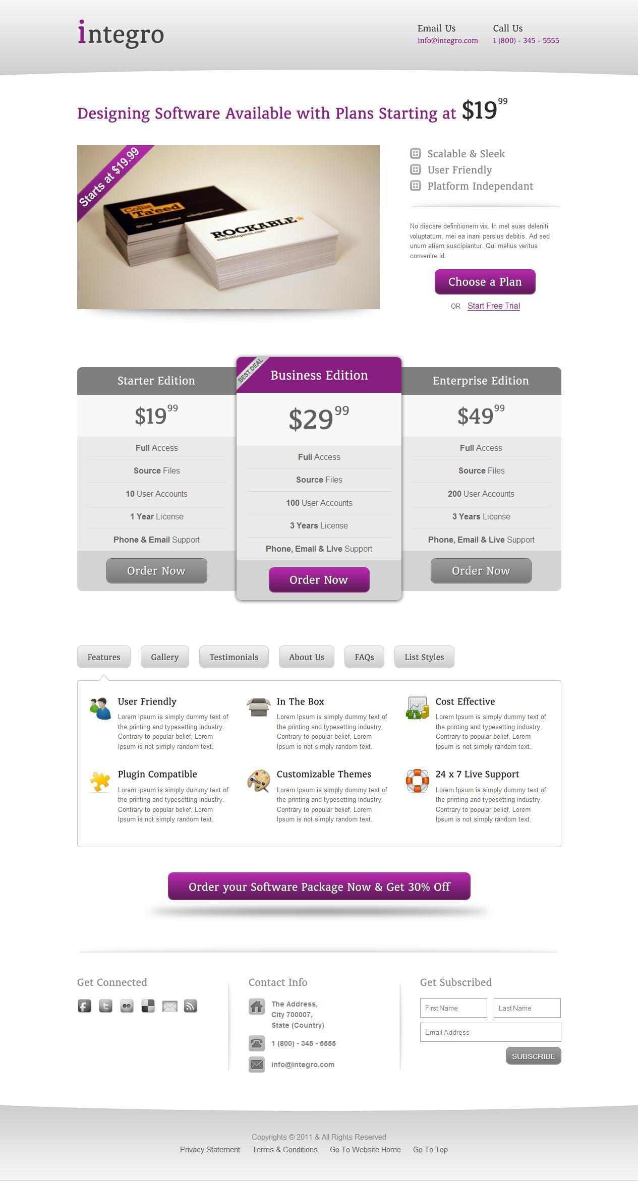 Integro - A Corporate Landing Page