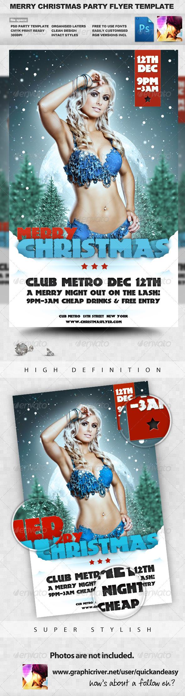 Flyer de Navidad Winter Party