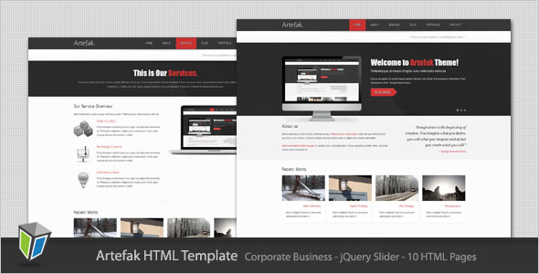 Artefak - Modern Corporate HTML Template