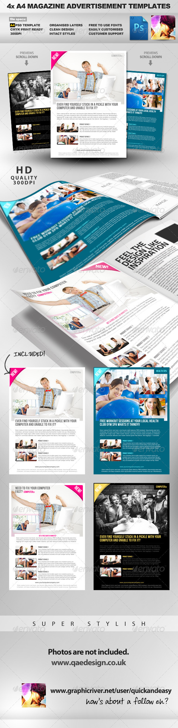 Magazine Ad Design Template image information