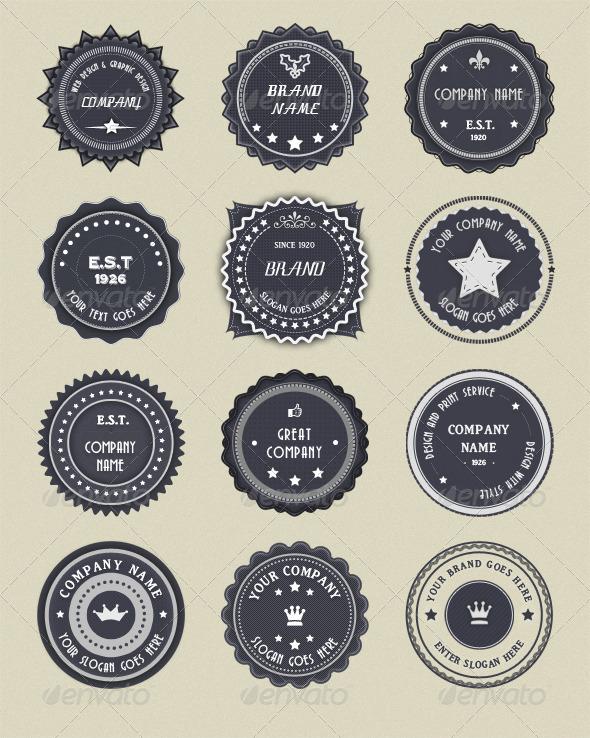 Modern Vintage Badges - Badges & Stickers Web Elements