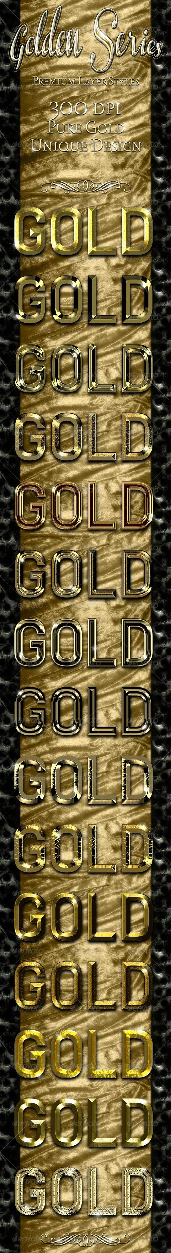 GraphicRiver Golden Series Premium Layer Styles 2283264