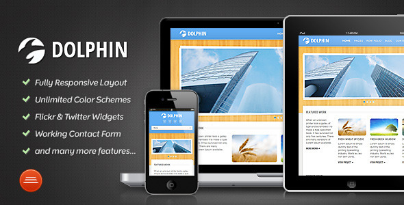 ThemeForest Dolphin Responsive Site Template 2283437