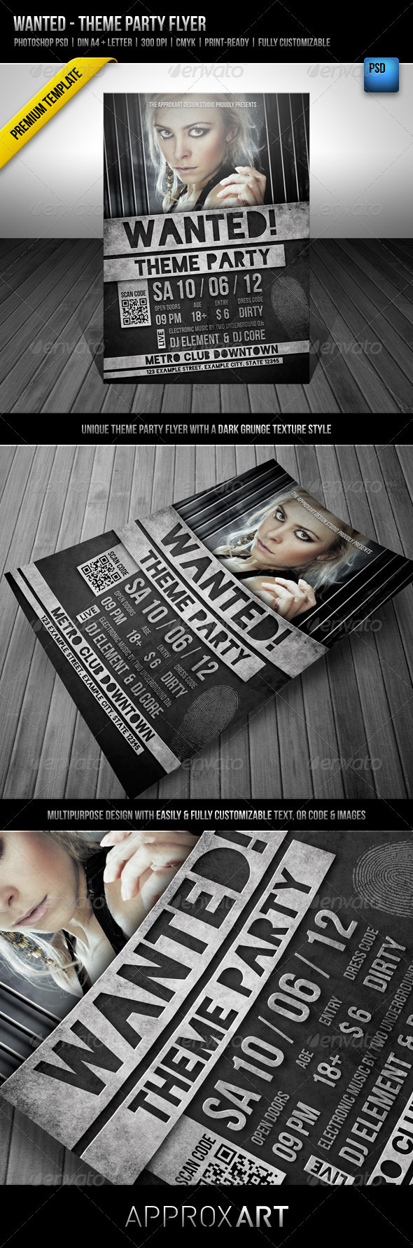 GraphicRiver Wanted Theme Party Flyer 2283635