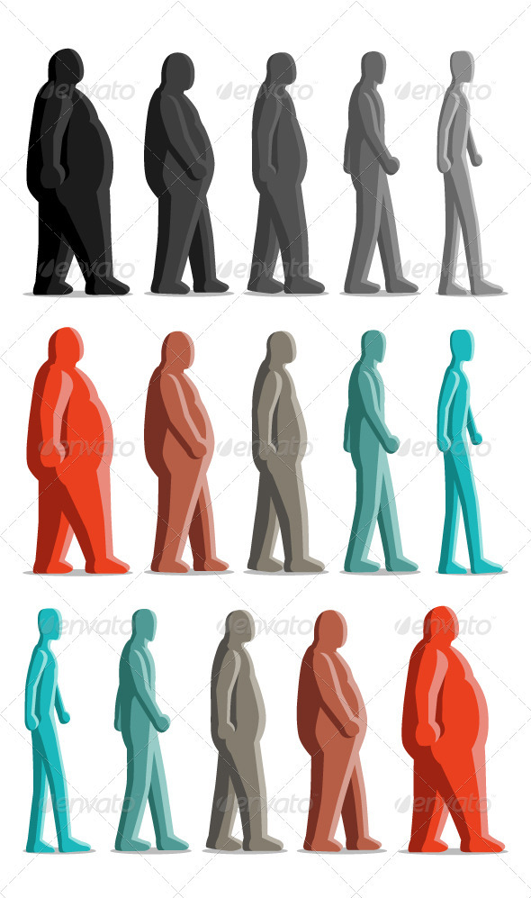 Fat Thin - People Characters