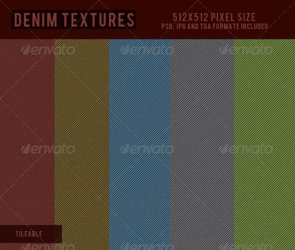 3DOcean Denim Textures 1 CG Textures -  Fabric 2282582