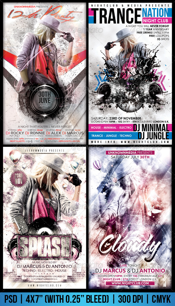White Flyer Bundle - Flyers Print Templates