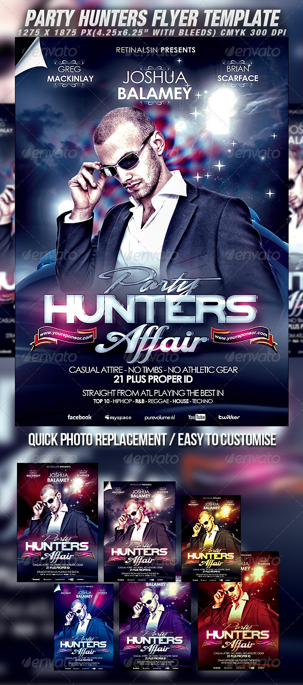 GraphicRiver Party Hunters Flyer Template 2285104