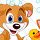 Dog and Cat  having a bath - GraphicRiver Item for Sale