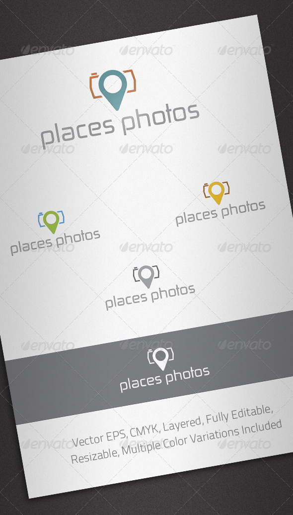 Places Photos Logo Template - Abstract Logo Templates