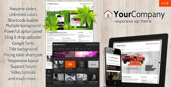 ThemeForest YourCompany Responsive Business WordPress Theme 2075654