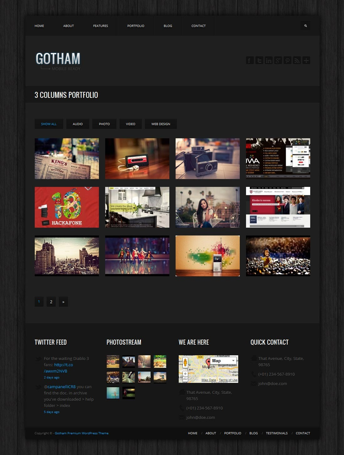 Gotham - Responsive Business WordPress Theme