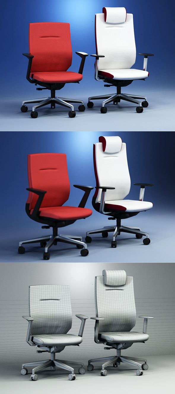 Quality 3dmodel of modern chairs Itera. Kloeber - 3DOcean Item for Sale
