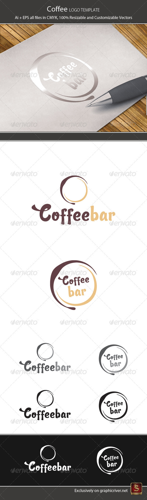 Coffee Logo Template - Vector Abstract