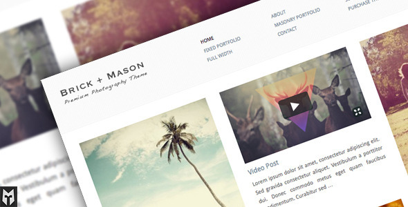 ThemeForest Brick & Mason Premium Photography and Blog Theme 245497