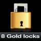Gold and silver lock - GraphicRiver Item for Sale