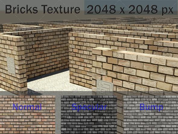 3DOcean Bricks Texture 2289310