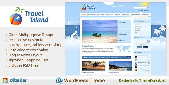 Travel Island v1.3 – Responsive JigoShop e-Commerce WordPress Theme