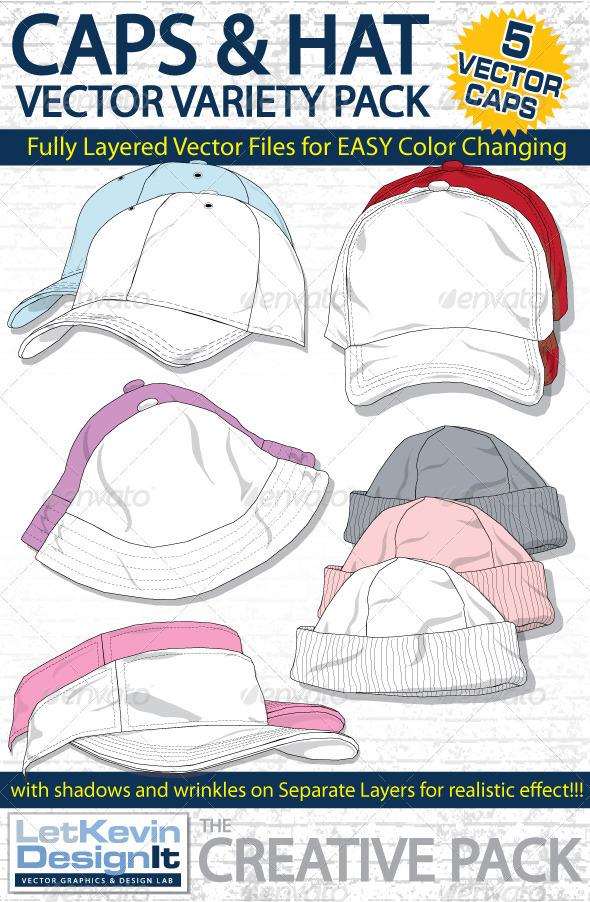 Cap Mock-Ups - Variety Pack