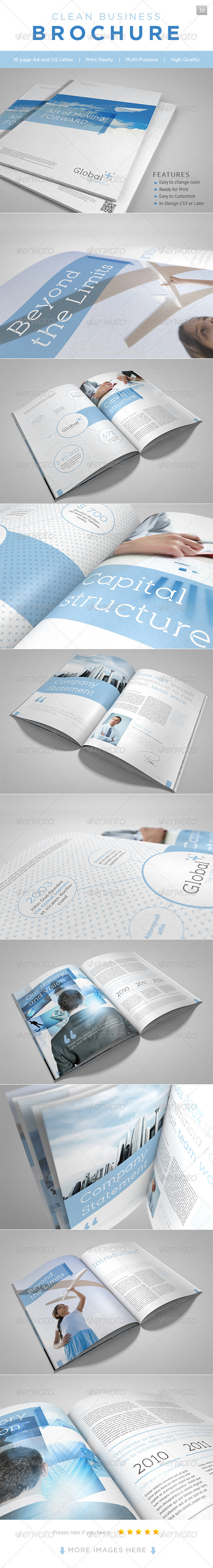 GraphicRiver Clean Business Brochure 2290611
