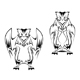 Owl tattoo in two variations - GraphicRiver Item for Sale