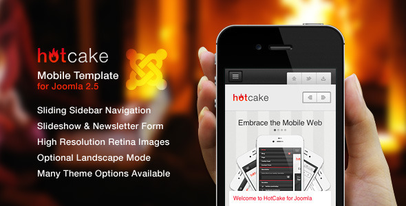 HotCake for Joomla — Retina Mobile Template - Joomla CMS Themes
