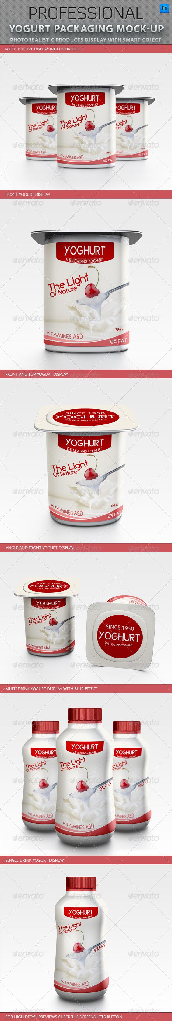 Yogurt packaging Mockup - Food and Drink Packaging