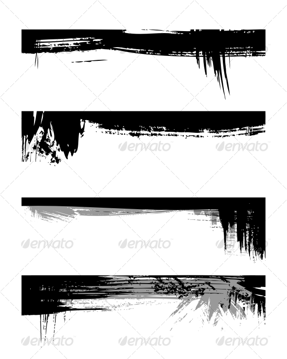 GraphicRiver Set of grunge edges 85271