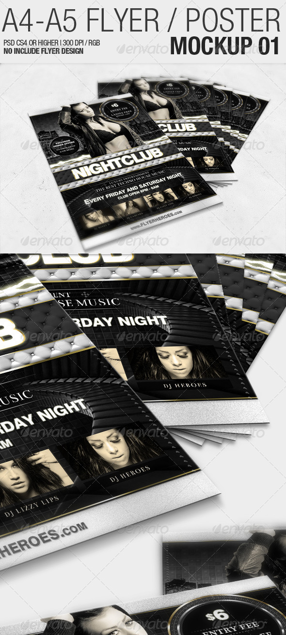 GraphicRiver A4 A5 Flyer Mockup 01 2291347