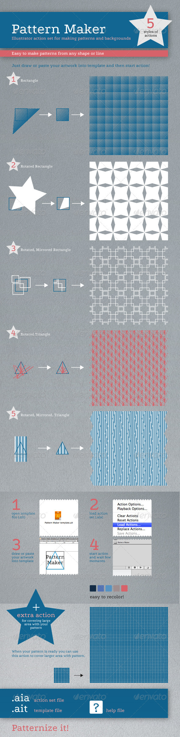 GraphicRiver Pattern Maker Illustrator Action 2291627
