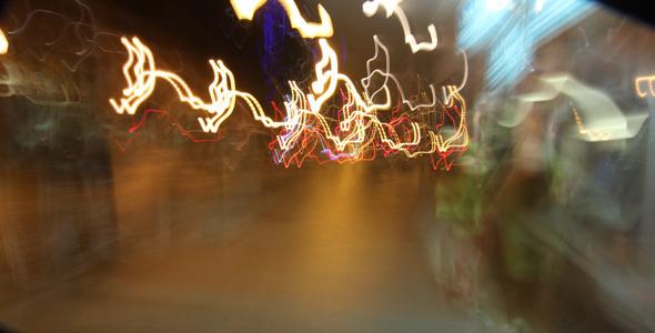 Walking Downtown At Night Time-Lapse