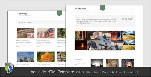 Adelaide - Minimalist Portfolio HTML Template