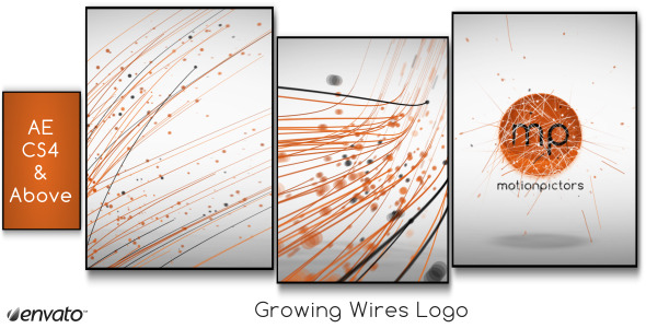 VideoHive Growing Wires Logo 2291859