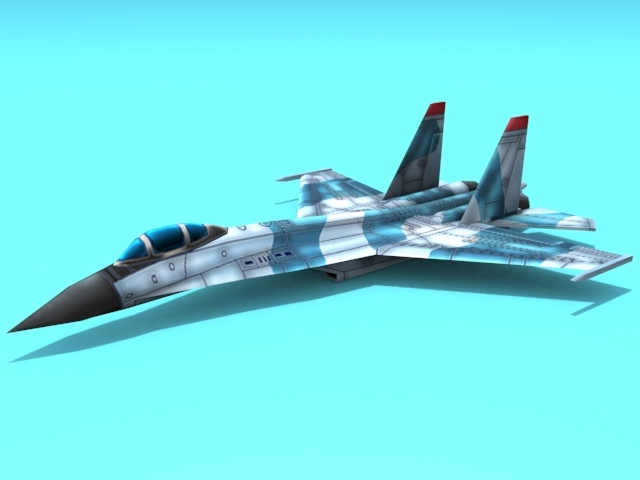 3DOcean Su-27 Flanker 3D Models -  Vehicles  Air  Military 2291864